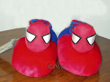 NEW Marvel Spiderman Spider Man Web Plush Toddler SLIPPERS HOUSE Shoes S 5/6 RED