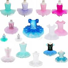 Girls Kids Princess Fancy Ballet Dance Tutu Dress Leotard Dancewear Costume 2-12