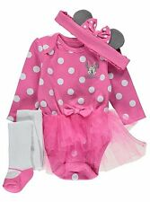 BABY GIRL 3 Piece Minnie Mouse Tutu Party Costume/Fancy Dress/Outfit 0-18 Months