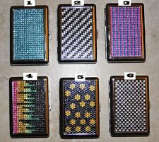 One Nulite Jewel Metal  Rhinestone Cigarette Case/Money/Card Holder/Many designs