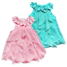 Newborn Baby Girl Princess Flower One Piece Romper Jumpsuit Dress Clothing 6-24M