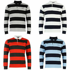 Donnay Mens Polo Shirt T-Shirt Rugby Long Sleeve New