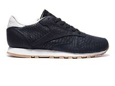 REEBOK CLASSIC LEATHER CLEAN EXOTICS BLACK SNAKE RARE SIZE 4 37 WOMENS TRAINERS