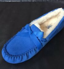 NEW UGG Aus. Dakota Exotic Scales Blue Suede Slipper Moccasin US SZ 7, 10  #5612