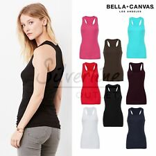 Bella+Canvas Sheer mini rib racerback tank top