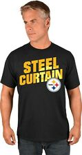 "Pittsburgh Steelers Majestic NFL ""Steel Curtain"" Men's Short Sleeve T-Shirt"