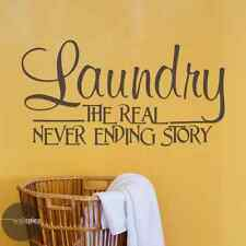 Laundry The Real Never Ending Story Vinyl Wall Decal Sticker