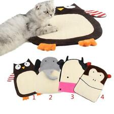 Lovely Cat Kitten Sisal Scratch Mat Scratching Board Cushion Pad Catnip Bed Toy