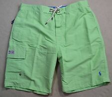 NWT MENS POLO RALPH LAUREN CLASSIC OASIS GREEN BOARD SHORTS SWIM TRUNKS SZ M L