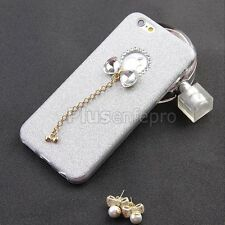 Cute Lady Bling Shine Rhinestone Pendant Logo Golden Case For iPhone 6 / 6S Plus