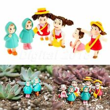 Miniature Girl Human Fairy Garden Figurine Dollhouse Ornament Landscape Decor
