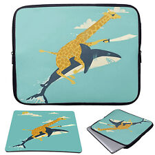 """11-15.6"""" Laptop Animal Sleeve Case Bag+Mouse Pad For MacBook Pro Air Acer HP"""