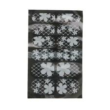 12Pcs/Sheet Nail Art White Lace Flower Stickers Decals for Nail Tips Decoration