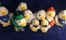 Aflac Duck Plush Huge Lot Of 9 Talking Skier Snowboarder Construction Worker MD