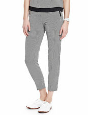 M&S Collection Black & White Grid Check Slim Leg Ankle Grazer Trousers 10 14