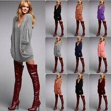 Sexy Women's Casual Loose Blouse T Shirt Tee Batwing Ladies long Sleeve Tops w65