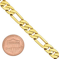 7.5mm 14k Gold Plated Beveled Figaro Link Chain