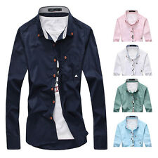 Mens Luxury Casual Shirts Long Sleeve Slim Fit Stylish Dress Shirts T-Shirts oi4