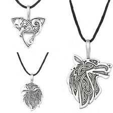 Viking Necklace Stainless Steel Odin Jewelry Teen Wolf Fox Pendant Supernatural