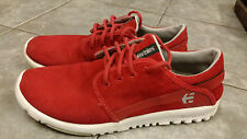 Etnies Scout Red Suede Trainers Size UK 8
