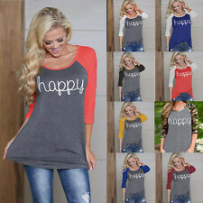 New Women's Casual Long Sleeve Shirt Blouse Loose Fashion Tank Tops T Shirt w74