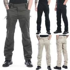 Men Outdoor City Military Tactical Combat Cargo Pants Waterproof Hiking Trousers