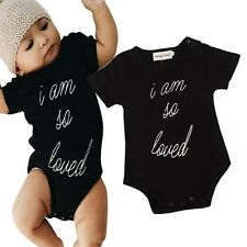 Baby Boys Girls Newborn Short Sleeve One-Piece Romper Jumpsuit Bodysuit Clothes