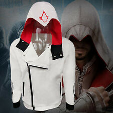 Stylish Assassins Creed Hoodie Cool Slim Men Cosplay For Jacket Costume Outwear
