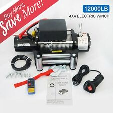 12000lb 12V Electric Recovery Winch for Truck SUV Trailer Wireless Remote LOT G