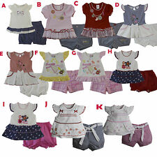 New Baby Girls Outfits Clothes 2 Pieces sets Shirt Shorts Size 3 6 9 12 Months