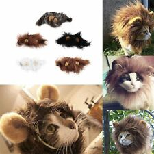 Pet Costume Lion Mane Wig for Cat Halloween Christmas Party Dress Up With Ear F7