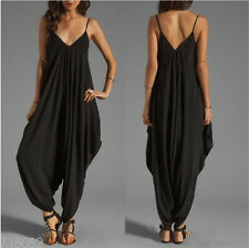 New Sexy Women V-Neck Bandage Bodycon Loose Romper&Jumpsuit Club Party Casual