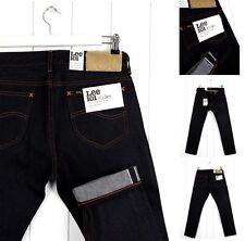 NEW  LEE 101 RIDER  HEAVY 16oz DRY JEANS SELVAGE DENIM SLIM  FIT ALL SIZES