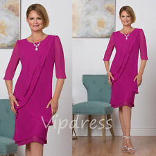 New Mother Of The Bride Dresses Half Sleeve Round Neck Keen Length Evening Gowns