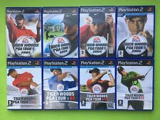 Tiger Woods PGA Tour 2002 2003 2004 2005 06 07 08 09 PS2 Games Selection List