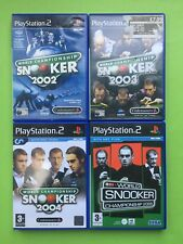 World Championship Snooker 2002 2003 2004 2005 2007 PS2PAL Games Selection List