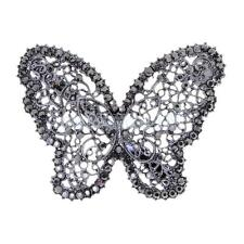 Bridal Wedding Vintage Butterfly Crystal Barrette Hair Clip Women Accessories