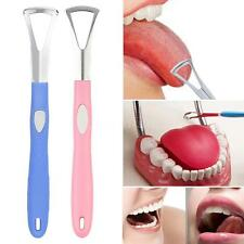 Dental Tongue Cleaner Tongue Scraper Handle Good Breath Oral Care Hygiene G3W5