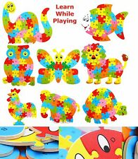 Children Kids Alphabet ABC Wooden Letters Jigsaw Learning Educational Puzzle Toy