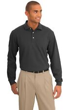 Port Authority Men's Tall Moisture Management Pique Long Sleeve Polo Shirt
