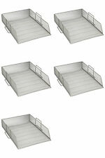 Stackable Metal Mesh A4 Document Paper Letter Trays Filing Storage Home Office