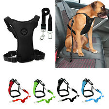 Air Mesh Puppy Pet Dog Car Harness and Seatbelt Clip Lead Safety for Dogs Travel