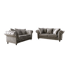 crushed velvet 3+2 seater sofas  fixed or scatter back cushions