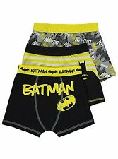 DC Batman 3 Pack Trunks BOXERS, UNDERWEAR, TRUNKS, SIZE 2 TO 12 YEARS