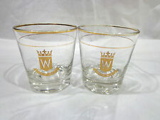 vintage Hiram Walker Canadian club whisky glasses-2