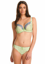 Freya Morning Meadow Lime Plunge Balcony Bra and Brief Set - 30F/S
