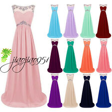 Formal Long Wedding Bridesmaid Dress Evening Cocktail Prom Party Gown Stock 6-18