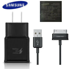 For Samsung Galaxy Tab Original OEM Black Fast Wall Charger with 1M 30Pin Cable