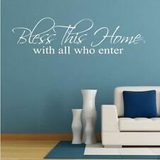 Bless Family Home Wall Art Sticker Quote Room Decal Mural Stencil Transfer