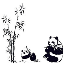 DIY Removable Panda eating bamboo Vinyl Decal Wall Art Sticker  V9A3
